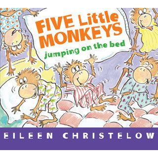 5 Little Monkeys Jumping On The Bed Board Book - eBeanstalk