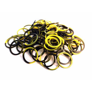 Yellow and Black Silicone Bands for FunLoom or Rainbow Loom sets - FunLoom - eBeanstalk