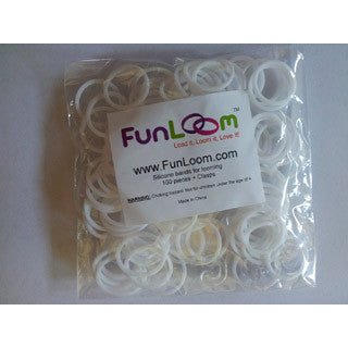 White Silicone Bands - FunLoom - eBeanstalk