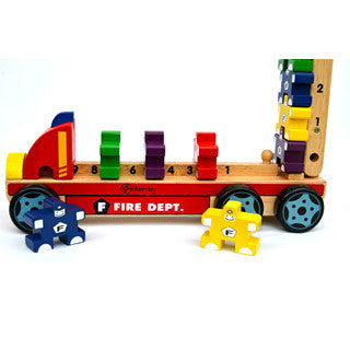 Bloomby Count, Stack and Measure Fire Engine Set - Bloomby - eBeanstalk