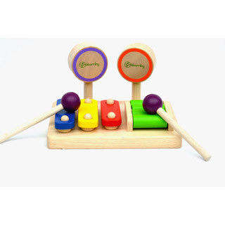 Bloomby Lets Play Music Wooden Percussion Set - Bloomby - eBeanstalk