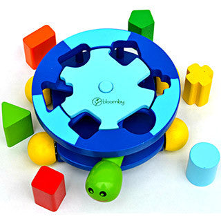 Bloomby Spin & Fit Turtle Shape Sorter - Bloomby - eBeanstalk