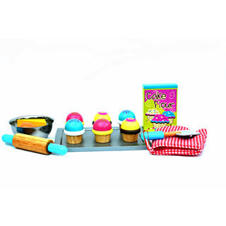 Bloomby Kalias Sweet Cupcake Pretend Play Wooden Set - Bloomby - eBeanstalk