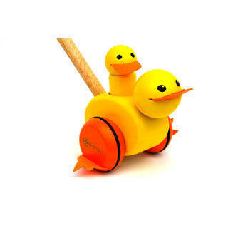Bloomby Walking Ducky Push and Pull Wooden Toy - Bloomby - eBeanstalk