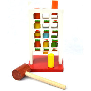 Bloomby Hammer Play Time Pounding Wooden Toy - Bloomby - eBeanstalk