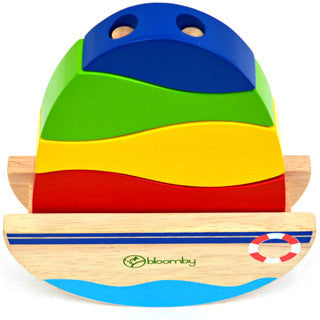 Bloomby Rock and Stack Boat Wooden Toy - Bloomby - eBeanstalk