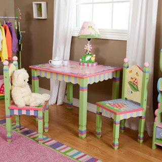 Fantasy Fields Fantasy Fields Magic Garden Table and Chair Set, Wood - Teamson - eBeanstalk