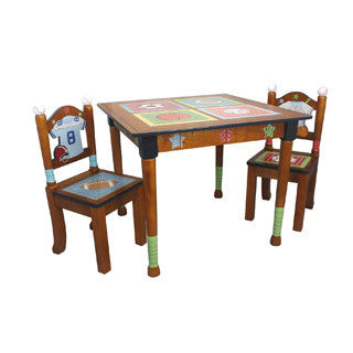 Fantasy Fields - Lil Sports Fan Table & Set of 2 Chairs - Teamson - eBeanstalk