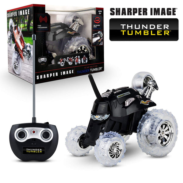 Sharper Image Thunder Tumbler RC Car Black