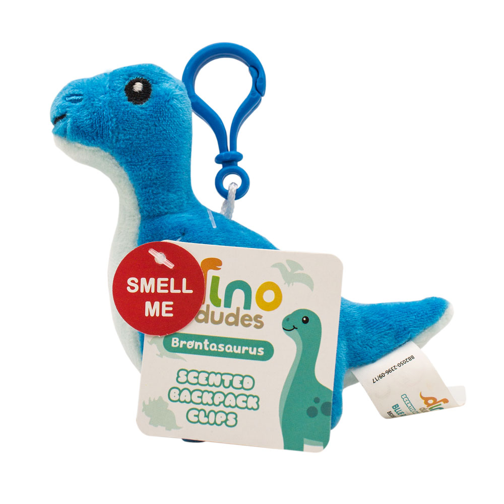 Dino Dudes Backpack Buddies Brontosaurus Raspberry