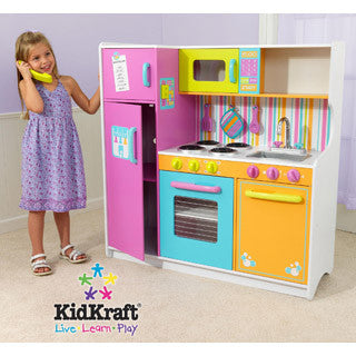 Deluxe Big & Bright Kitchen - Kid Kraft - eBeanstalk