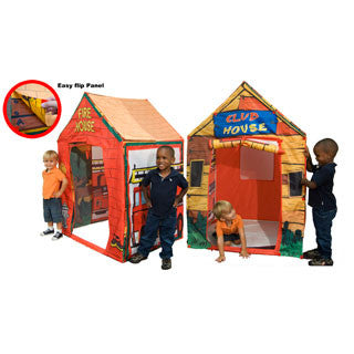 2 in 1 Clubhouse/Fire Station Play Tent - eBeanstalk