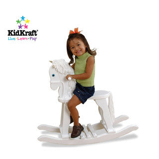 Derby Rocking Horse WHITE - Kid Kraft - eBeanstalk