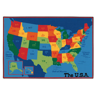 USA Map Carpet - Carpets For Kids - eBeanstalk