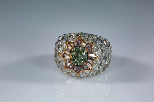 1.77 ct Fancy Green SI2 Cushion