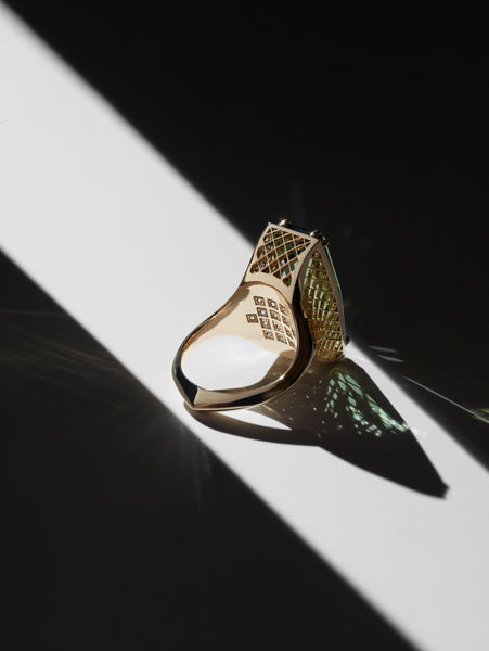 Labyrinth Signature Ring