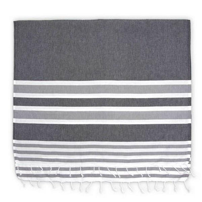 Black Ariel Turkish Towel | boogie + birdie