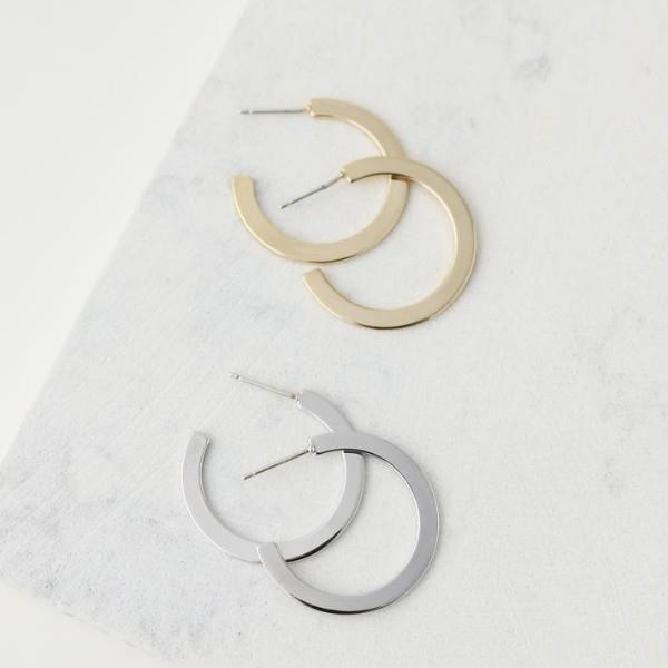Silver Large Gloria Hoop Earrings | boogie + birdie