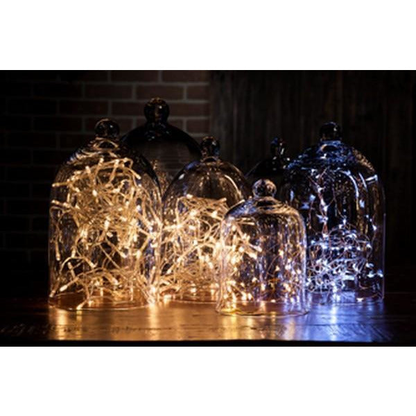 Silver Droplet LED Light String | boogie + birdie