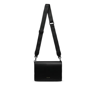 Black Gianna Crossbody with Strap B | boogie + birdie