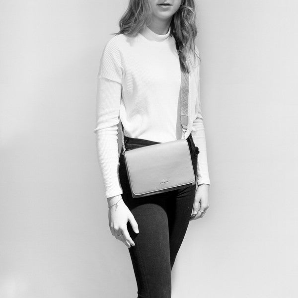 Black Gianna Crossbody on Model | boogie + birdie