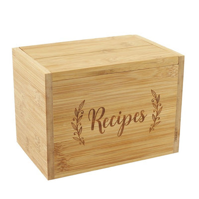 Bamboo Recipe Box Set | boogie + birdie
