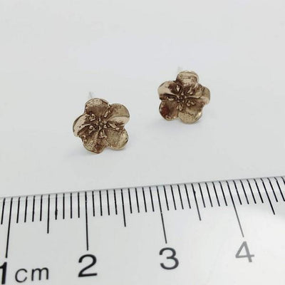 Bronze Forget-Me-Not Earrings | boogie + birdie