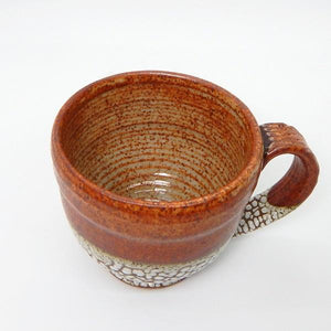 Copper Bubble Ceramic Latte Mug | Top | boogie + birdie