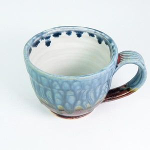 Blue Ash Latte Ceramic Mug | Top | boogie + birdie