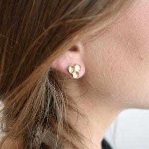 Honeycomb Studs (Bronze Pictured) | Brelokz | boogie + birdie
