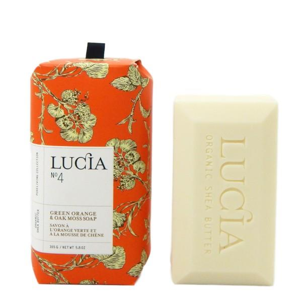 Lucia Green Orange & Oak Moss Bar Soap | boogie + birdie