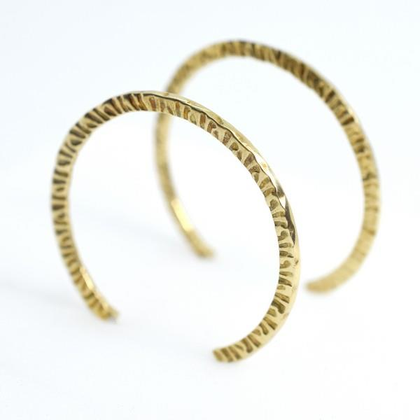 Brass Naveen Hoop Earrings | Lissa Bowie | boogie + birdie