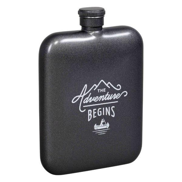 The Adventure Begins Hip Flask | boogie + birdie