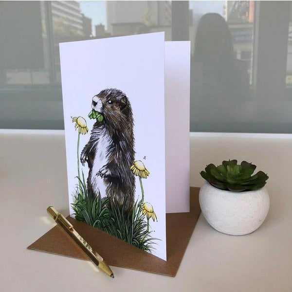 Hungry Groundhog Card | boogie + birdie