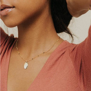 Gold Everly Oval Necklace | boogie + birdie