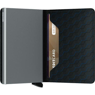 Optical Black-Titanium Slimwallet | boogie + birdie
