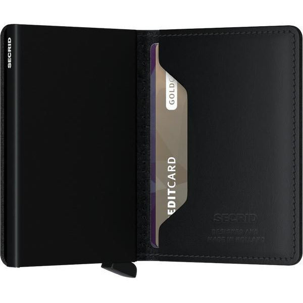 Black Perforated Slimwallet | boogie + birdie