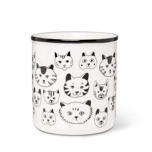 Cat Faces Mug | boogie + birdie
