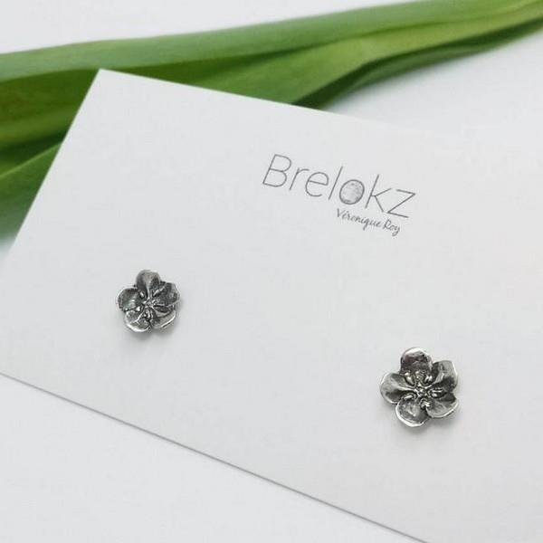 Oxidized Silver Forget-Me-Knot Earrings | boogie + birdie