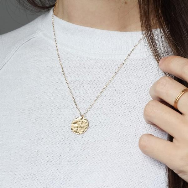 Gold Mini Coin Necklace | boogie + birdie