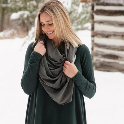 Charcoal Bamboo Poncho | boogie + birdie