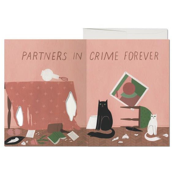 Cat Crimes Die-Cut Card