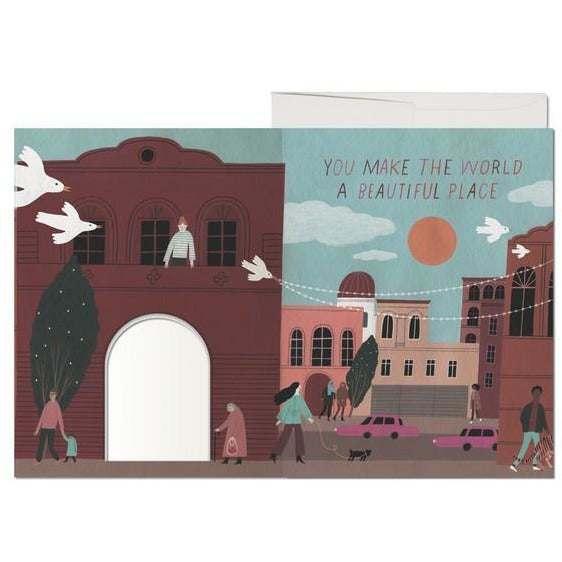 Beautiful Place Die-Cut Card | boogie + birdie