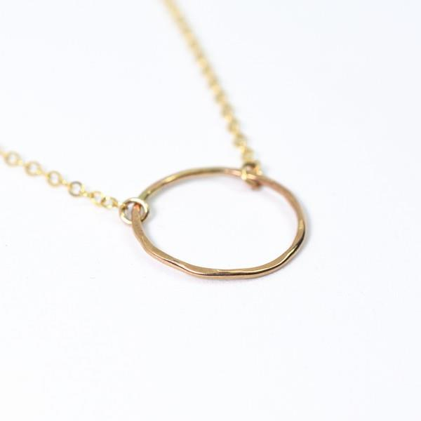 Gold Mini Circle Necklace | Katye Landry | boogie + birdie