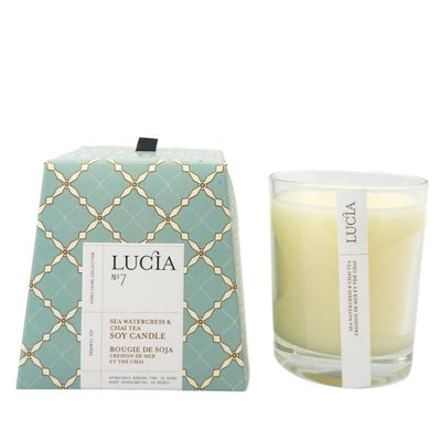 Lucia Sea Watercress & Chai Tea Candle | boogie + birdie