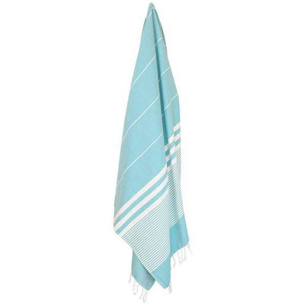 Harem Turquoise Turkish Towel | Draped | boogie + birdie