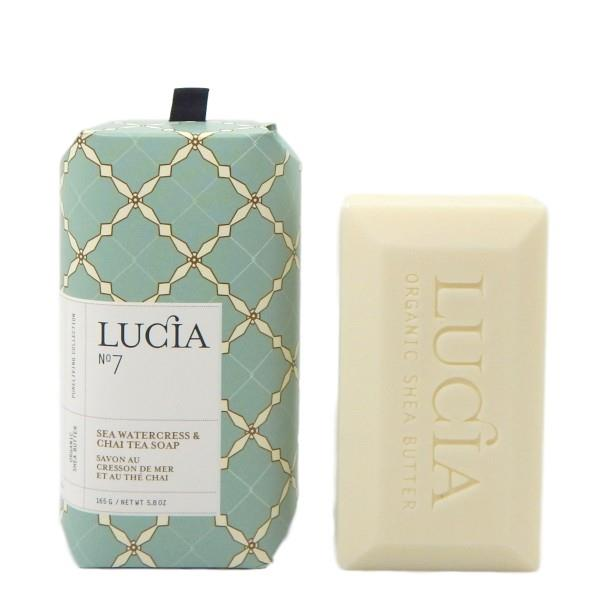 Lucia Sea Watercress & Chai Tea Bar Soap | boogie + birdie