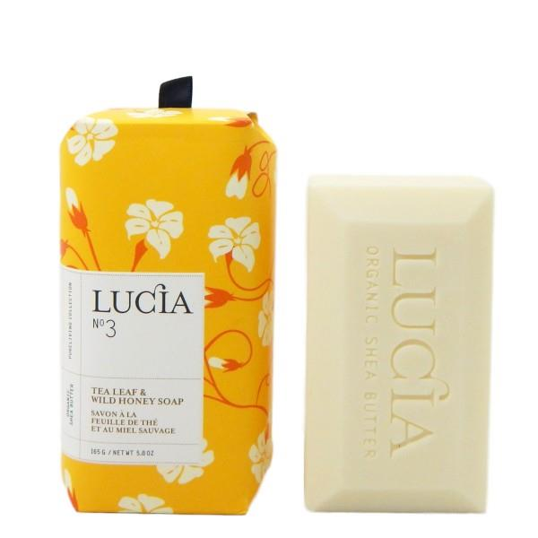 Lucia Tea Leaf & Wild Honey Bar Soap | boogie + birdie