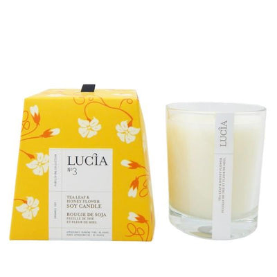 Lucia Tea Leaf & Honey Flower Candle | boogie + birdie