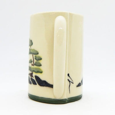 Windswept Tree With Rocks Ceramic Mug | Side | boogie + birdie
